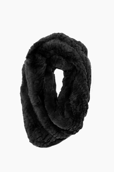 Knitted Rabbit Snood in Noir