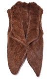 Knitted Rabbit Vest in Golden Brown