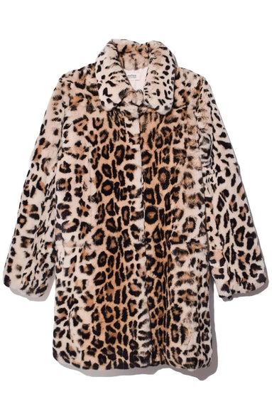 Rex Rabbit Coat in Leopard