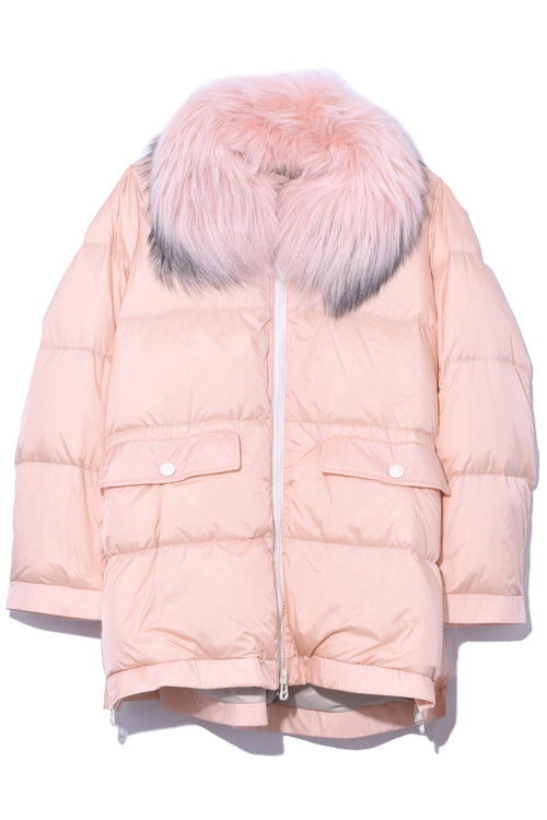 Ultra Light Nylon Jacket in Light Pink