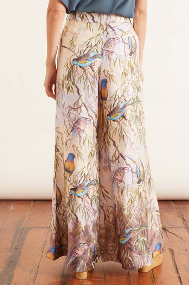 Candescent Wide Leg Pant in Parakeets