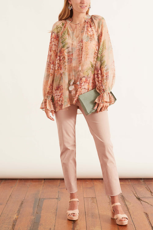 Candescent Blouse in Coral Tree
