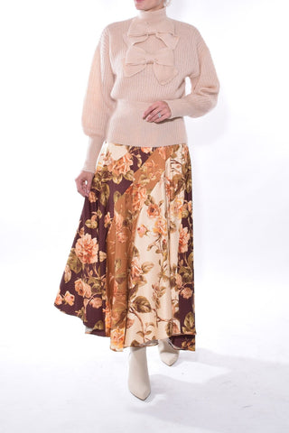 Resistance Spliced Skirt in Mixed Roses