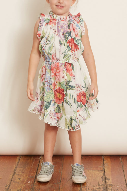 Kids Bellitude Flip Dress in Ivory Floral
