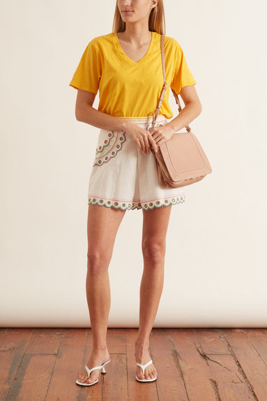 Peggy Multi Short in Ivory Multi