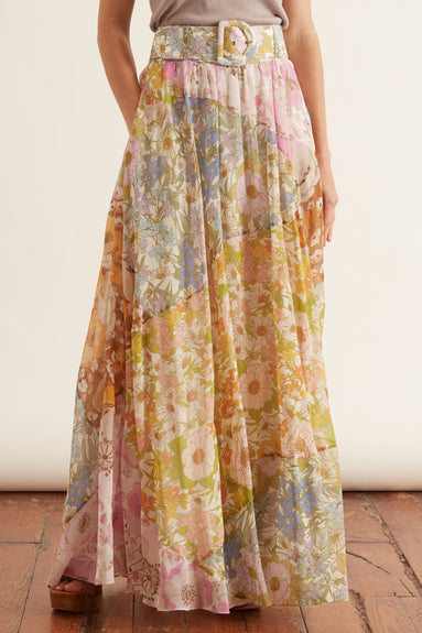 Super Eight Maxi Skirt in Mixed Floral