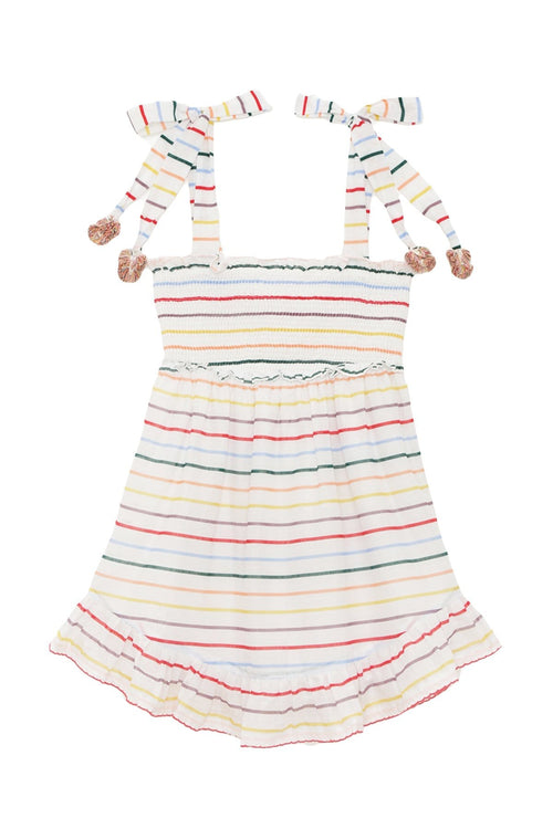 Kids Zinnia Ruffle Dress in Ivory Multi