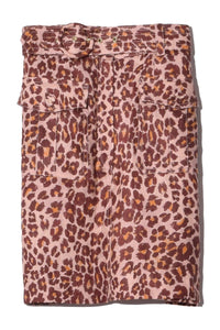 Resistance Safari Mini Skirt in Cameo Leopard