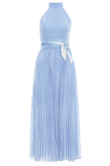 Super Eight Picnic Dress in Blue/Cream Spot