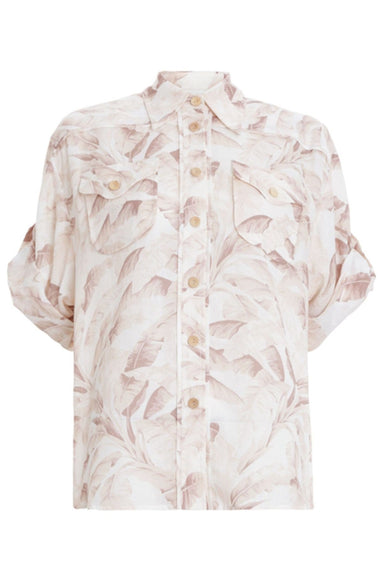 Super Eight Safari Shirt in Bleached Palm