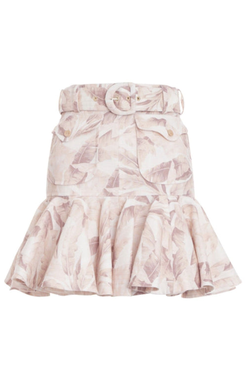 Super Eight Safari Skirt in Bleached Palm