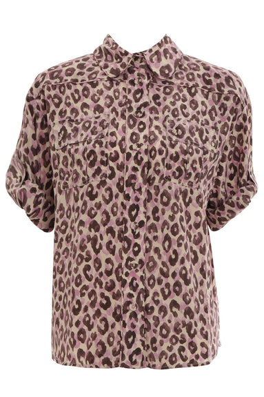 Super Eight Silk Safari Shirt in Candy Leopard