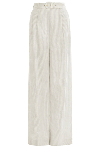 Super Eight Striped Trouser in Natural Stripe