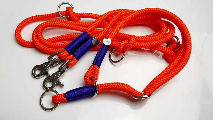 Set Neon Orange & Acid Purple | Tauleine, Halsband 2-fach