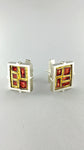 Abstract Cloisonne Cufflinks