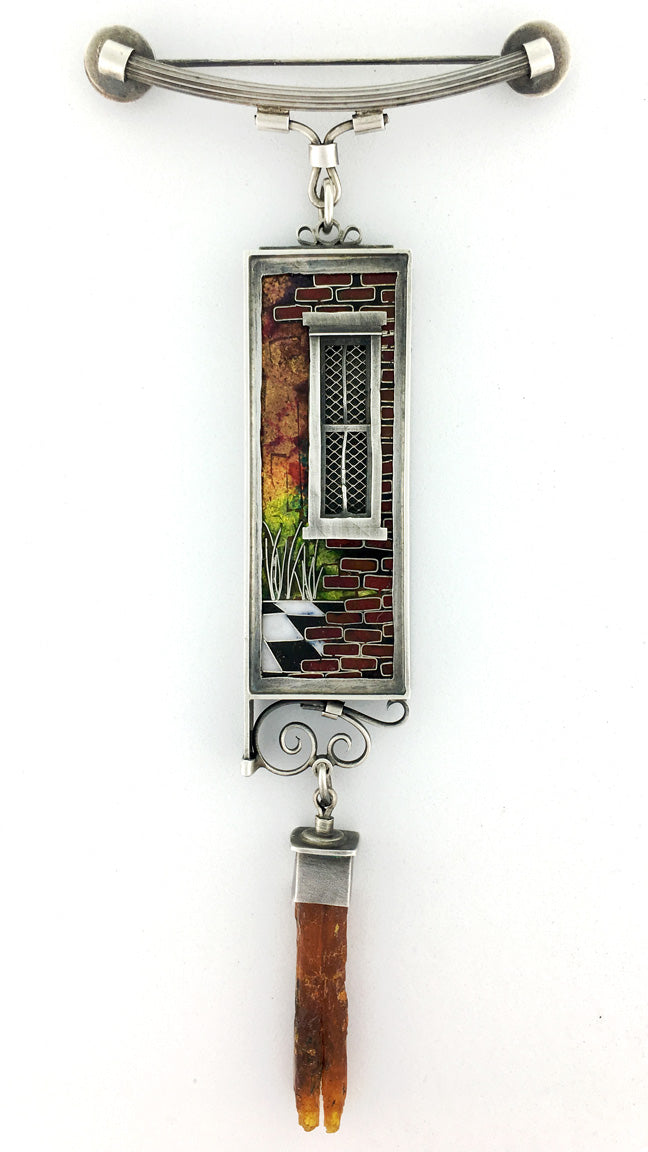 New Orleans Collection Windows Cloisonne Pendant 2