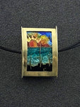 Gulf Coast - Seascape Double-sided Bead Pendant