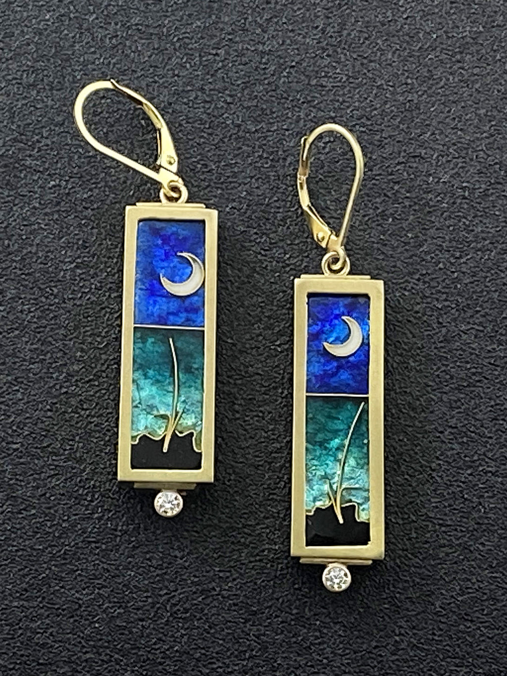 Gulf Coast - Moonscape Earrings