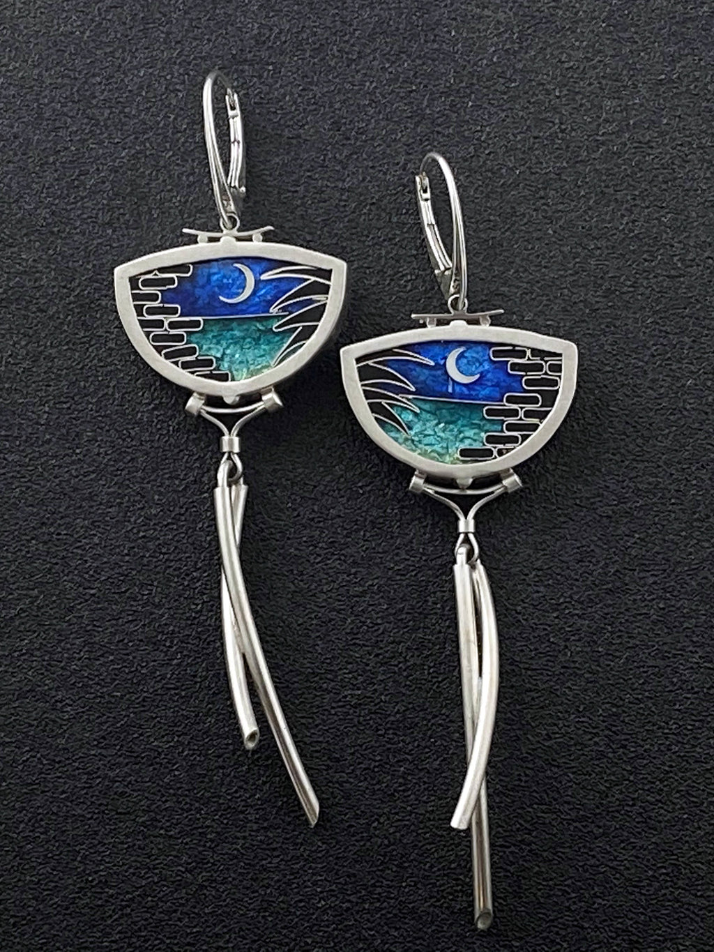 Gulf Coast - Fort Pickens Moonscape Earrings
