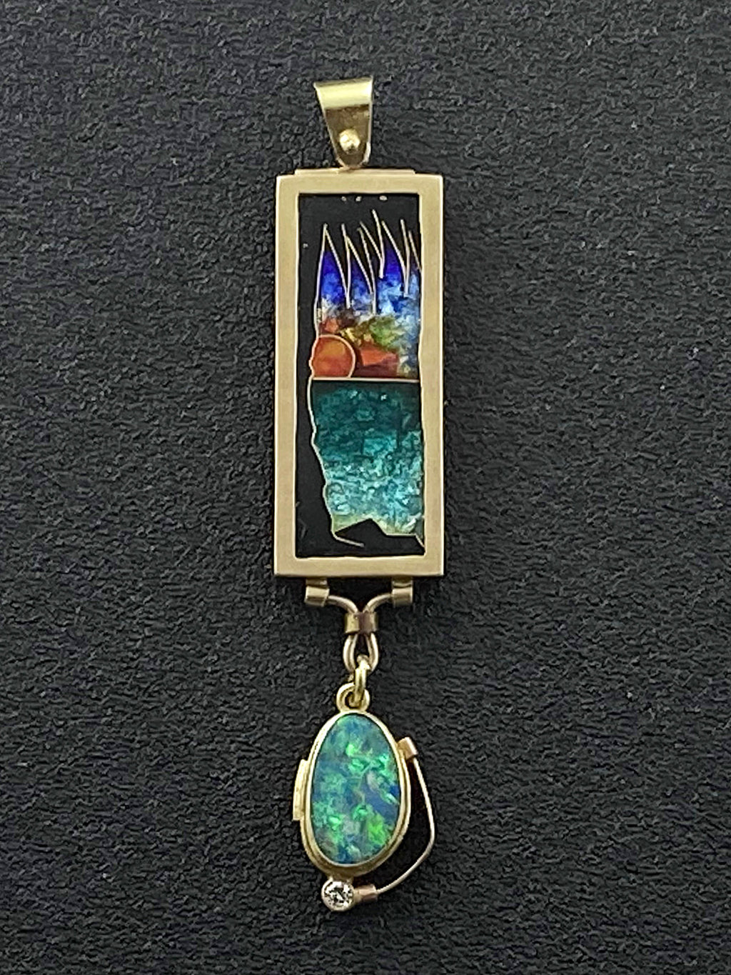 Gulf Coast - Palm Sunset Pendant