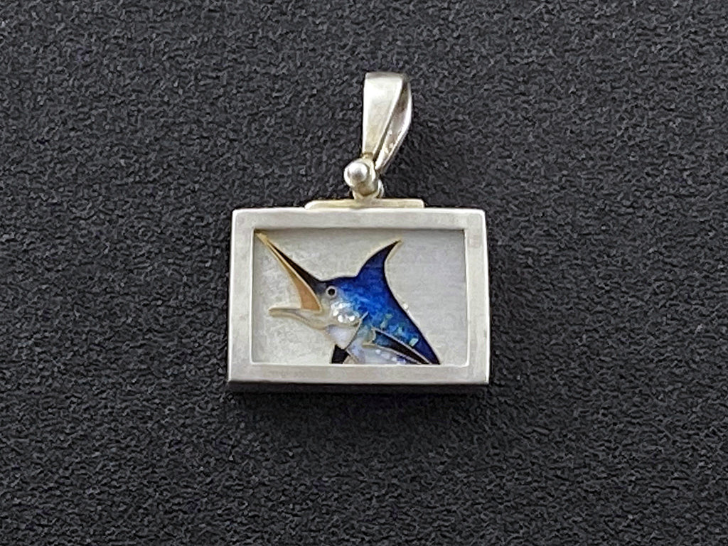 Fish - Leaping Blue Marlin Pendant