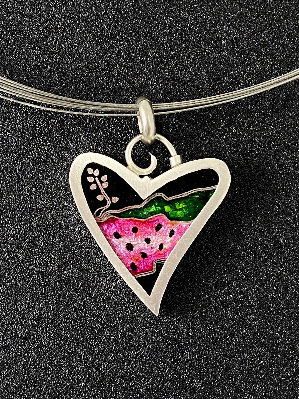 Hearts - Watermelon Sprout Heart Pendant