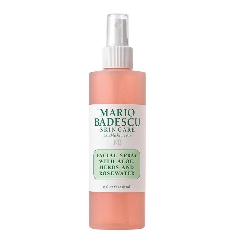 FACIAL SPRAY WITH ALOE, HERBS AND ROSEWATER - 236ML