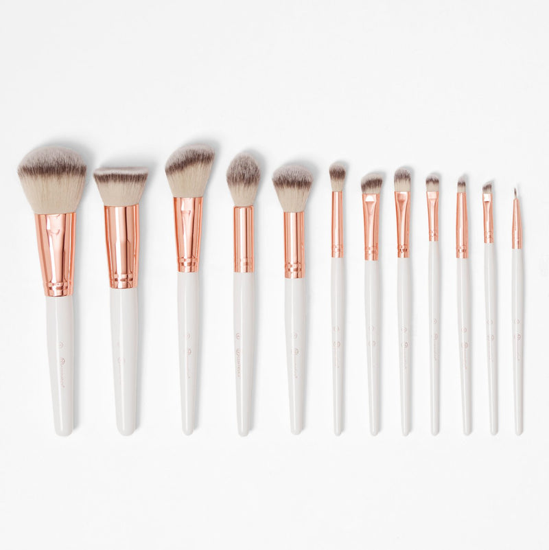 Rosé Romance - 12 Piece Brush Set With Cosmetic Bag