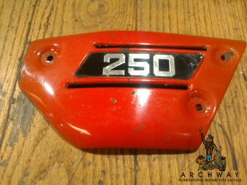 1977-79 SUZUKI TS250 TS 250 OEM EXHAUST MUFFLER RED Cover OEM # 14782-30500-737