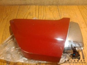 1981 Suzuki GS450T NOS OEM R/H side cover red OEM# 47110-44300-157