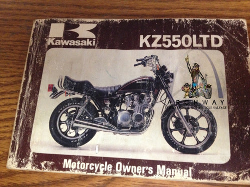 KZ550 LTD KAWASAKI  OWNER'S  MANUAL 99920-1112-01 USED
