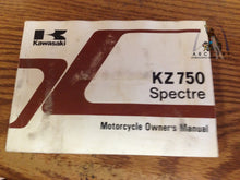 Load image into Gallery viewer, KAWASAKI KZ750 SPECTRE OWNER'  MANUAL 99920-1185-01 USED KZ750-N2