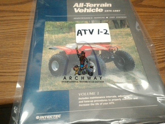USED INTERTEC ALL-TERRAIN VEHICLE MANUAL 1974-1987  # ATV1-2
