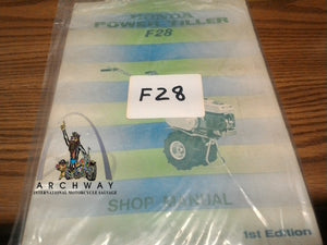 USED  HONDA Power Tiller Shop MANUAL # F28