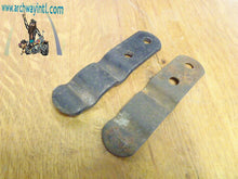 Load image into Gallery viewer, oem buddy seat spring clip set Harley Knucklehead Flathead