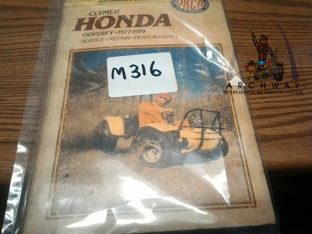 USED  Clymer Service Repair Manual for HONDA ODYSSEY 1977-1979 # M316