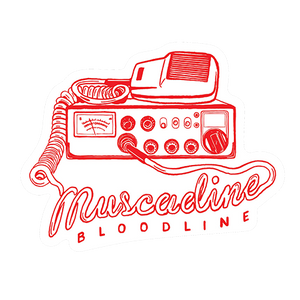 Radio Die Cut Sticker - Red