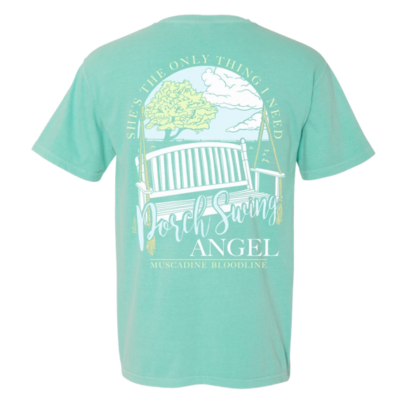 Chalky Mint Porch Swing Angel Tee