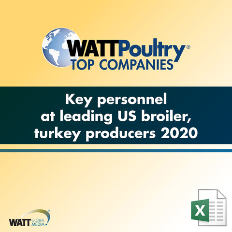 Key personnel at leading US broiler, turkey producers 2020