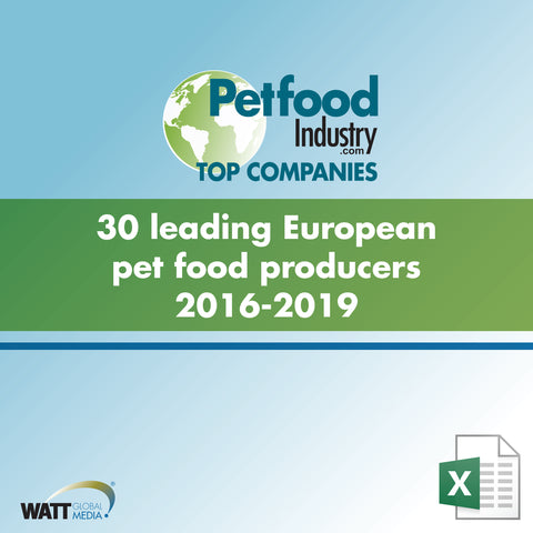 30 leading European pet food producers 2016-2019