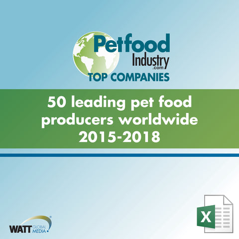 50 leading pet food producers worldwide 2015-2018