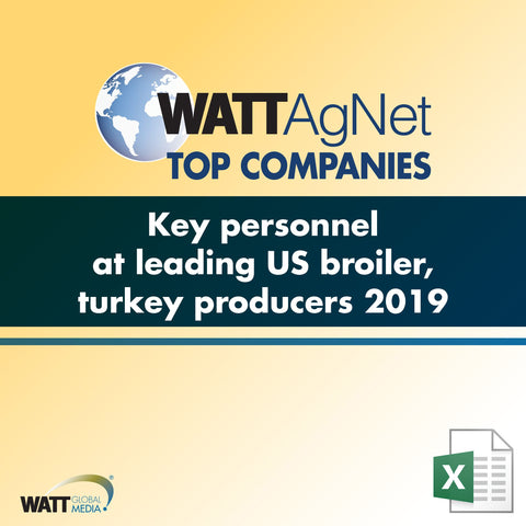 Key personnel at leading US broiler, turkey producers 2019
