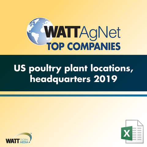 US poultry plant locations, headquarters 2019