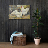 White Wyandottes Heritage Poultry Painting Canvas Print