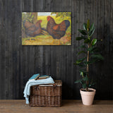 Golden Laced Wyandottes Heritage Poultry Breed Canvas Print