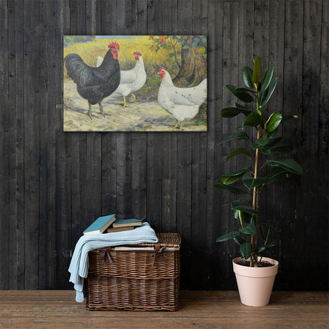 Austra Whites Heritage Poultry Painting Canvas Print