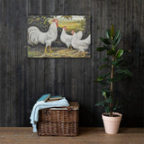 Single Comb White Leghorns Heritage Poultry Painting Canvas Print