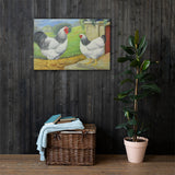 Columbian Wyandottes Heritage Poultry Painting Canvas Print