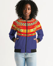 Load image into Gallery viewer, Africa Print Women's Bomber Jacket