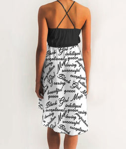 BGM Script High-Low Halter Dress